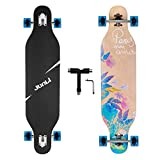 Junli 104 Zoll Freeride Longboard Skateboard – Skateboard Cruiser für Cruising, Carving und Downhill (Initial)