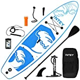 SUP Aufblasbares Stand Up Paddle Board für Erwachsene/Kinder 335×84×15 cm komplettes Zubehör Alu-Paddel hochdruck-Pumpe Reparaturset Rucksack Surfbrett
