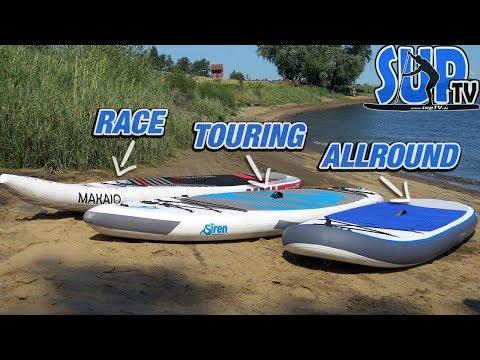 Board-Typen beim Stand Up Paddling // Vergleich & Unterschiede // Allround, Touring oder Race?